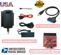 """SATA/IDE to USB 2.0 Adapter Converter Cable for Hard Drive Disk 2.5"""" 3.5""""HD HDD"""