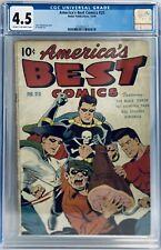 America's Best Comics #20 (1946) CGC 4.5 Classic Schomburg Cover Black Terror
