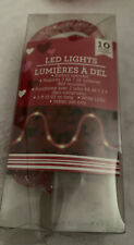 LED Rope Lights Red Battery Operated
