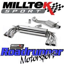 "Milltek Audi TTS MK3 2.0TFSi Quattro Exhaust System 3"" Cat Back Resonated Polish"