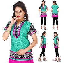 UK STOCK - Women Casual Indian Short Kurti Tunic Kurta Top Shirt Dress 106A