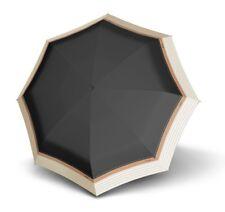Knirps Stick Long AC Border Schirm Regenschirm Stockschirm Border Black Schwarz
