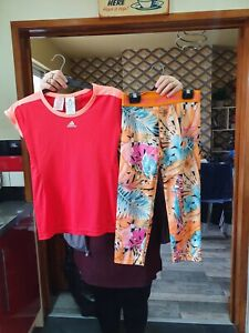 Kids Nike And Adidas Mix And Match Active Top And Pants Size 12-13 13-14