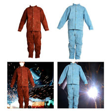 Welding Clothing Heat Flame Resistant Jacket and Pants Weld Work Protective