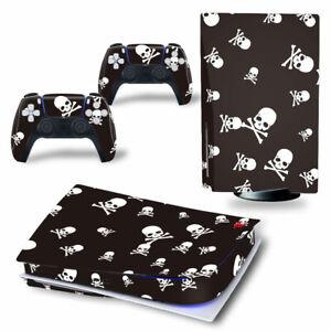 Schädel Totenkopf Skull Sony PS5 Playstation 5 Skin Aufkleber folie Sticker PVC