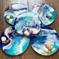 Resin Casting Round Coaster Epoxy Mold Silicone Jewelry Making Craft Mould DIY