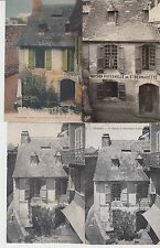 Lot 4 cartes postales anciennes LOURDES la maison de bernadette soubirous