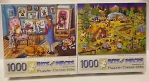 2 NEW!!! The Artist Puzzle Bits and Pieces 1000 Piece Jigsaw Childrens & Camping