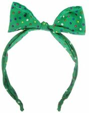 Johnny Loves Rosie Hairband With Wired Bow And Polka Print Turquoise/