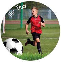 10/14/20cm Ø - Fußball Tortenaufleger individuell Fototorte Geburtstag Kommunion