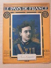 LE PAYS DE FRANCE n° 104 l'aviateur GUYNEMER. Assaut du village de RANCOURT.