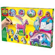 SES Creative 01155 Bastel-Set Kreativ-Packung Gips PFERDE gießen und malen