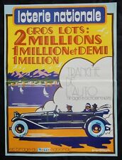 """n°79* Affiche LOTERIE NATIONALE / """"TRANCHE DE L'AUTO -1978-"""""""