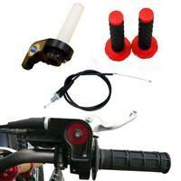 Pit Dirt Bike Quick Action Throttle Grip Twist W/Cable 125cc 140cc PITBIKE Red