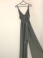 BLACK SEQUIN JUMPSUIT BRAND NEW WITH TAGS BY MYA LADIES UK SIZE L-XL
