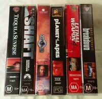 Bulk VHS Lot - 6 Classic Titles: Tequila Sunrise, Shaft, Con Air, Breakdown+++