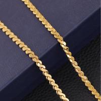 Goldkette Königskette vergoldet 18 Karat lang 50cm Herrenkette 4MM Herren Frauen