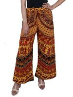 Indian Palazzo Pant Cotton Handmade Hippie Floral Design Trouser Bohemian