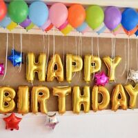 """13Pcs """"HAPPY BIRTHDAY"""" Letters Foil Balloons For Birthday Party Decoration"""