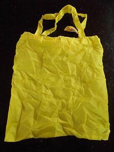 Reusable Foldable Lemon Shopping Tote Bag Plain Yellow Bag & Lemon Design Pouch