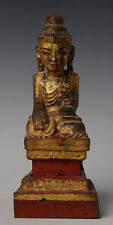 18th Century, Antique Tai Yai Burmese Wooden Seated Buddha