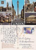 1988 MULTI VIEWS OF LONDON COLOUR POSTCARD