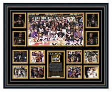 LA LAKERS 2020 NBA CHAMPIONS LEBRON JAMES SIGNED PHOTO FRAMED MEMORABILIA
