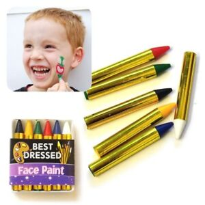Face & Body Paints Crayon Pencils Kids Birthday Party Christmas Halloween Dress