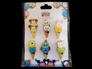 Disney Pin HKDL - Tsum Tsum Ice Cream Cone Booster Set of 6