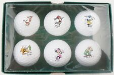 LOT OF SIX DISNEY CHARECTORS SAND TRAP COLLECTION GOLF BALLS MINT IN BOX