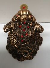 Feng Shui- Golden Frog with gold coins