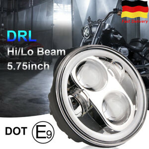 """5.75"""" 5-3/4 inch 45w LED headlight Hi/Lo DRL Projector Motorcycle for Harley"""