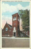 Dover Kent County Delaware Peoples Christian Church Bradford St. 1924 Postcard