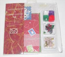 Coffret Set x 4 Cartes de Voeux à Confectionner Scrapbooking Noël NEUF