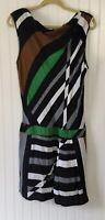 Derek Lam For Design Nation Women's Size 10 Striped Sleeveless Dress
