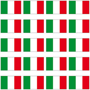 20 Aufkleber 2cm Italien Italy ITA Länder Fahne Flagge Mini Sticker RC Modellbau