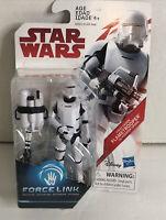 "Star Wars Last Jedi First Order Flametrooper Force Link 3.75"" Action Figure New"