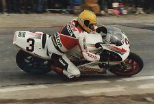 Joey Dunlop un-signed 12x8 PHOTO. IOM TT. UGP. MOTO GP.