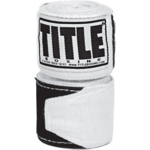 "Title Boxing 180"" Semi Elastic Mexican Handwraps - White"