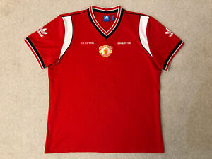 Manchester United Adidas Originals 1985 FA Cup Final Shirt Size: Adults XL