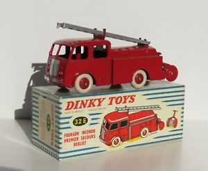 DINKY TOYS 32E // BERLIET 1ER SECOURS POMPIERS + BOITE // ORIGINE MECCANO FRANCE