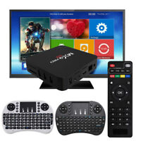 New Smart TV Box Android 7.1 4K Quad Core HDMI HD Media Player + Remote Keyboard