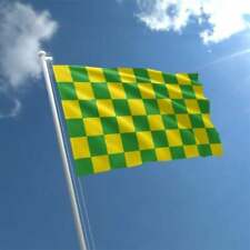 Green & Yellow Checkered Flag 5' x 3'
