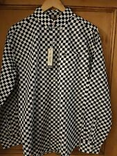 MENS PENGUIN CHECKERS LONG Sleeve shirt in DARK SAPPHIRE BLUE SIZE M