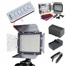 YN-300 II LED Video Light Lamp NP-F750 Battery+ Charge for Canon Nikon + Control