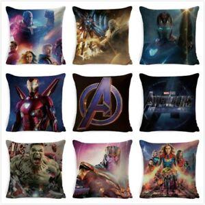 Avengers Endgame Cushion Cover Marvel Pillow Chair Bedroom Pillowcase Home Decor