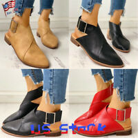 Fashion Women's Shoes Pointed Toe Mules Buckle Heels Slingbacks Party Casual US