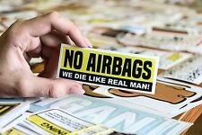 No Airbags Sticker Decal Vinyl Car JDM Window Drift Funny Low Turbo 100mm 4''