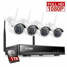 ZOSI 8CH 1080P Wireless CCTV System 4x 2.0MP WiFi IP Camera Outdoor Home 1TB NVR