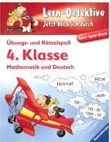 Übungs- & Rätselspaß (4.Klasse): Mathematik und Deutsch (Lern-Detektive - Block)